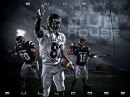 Bulldogs Football Poster by kylewright