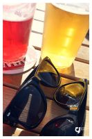 photo // ray ban + beer. by Goldstoff