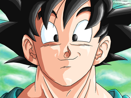 Goku -Satisfied- REMASTERED by JJJawor