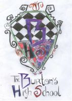 the Burton's High School badge by DanaToony