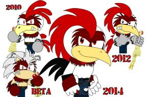 Evolution of Red Rooster by AshleyWolf259