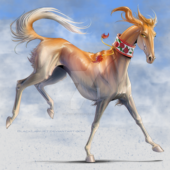 Saluki Horse by BlackLawliet