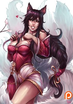 Ahri , League of Legends by kachima