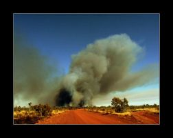 Bush fire I by Ciril