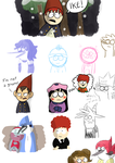 Regular Show and South Park + Wirt doodles by LotusTheKat