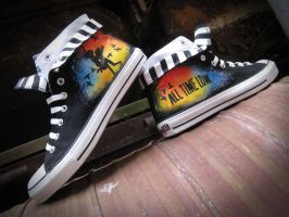 Hand Painted All Time Low Converse by Christine-Eige