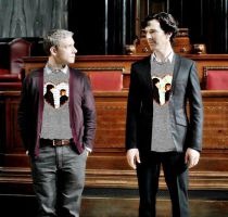 Johnlock couple t-shirts by thescudders
