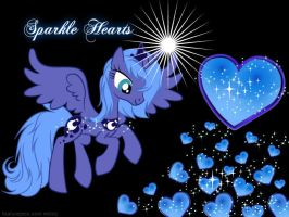 Sparkle Hearts by Mobin-Da-Vinci