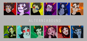ALTERNIABOUND icon set by Kitkaloid