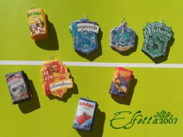 Coats of arms Gryffindor Ravenclaw Sytherin books by Elfetta2007