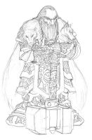 Dwarven Clan chieftain rough by roadkillblues
