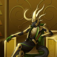 On The Throne of Asgard by Jewel-Thief