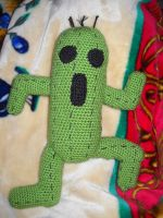Crochet Cactuar by brightdarkness7
