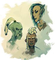 orc, bosmer, redguard by CoconutMilkyway
