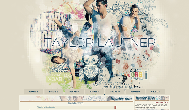 Taylor Lautner Domain Layout by FallennHalo