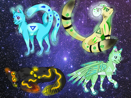 Glowing Elemental Adoptables **CLOSED** by Chewie-Sparkles