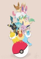 Eeveelutions by ditto9
