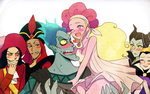 Hades Couple and villains by y-yuki