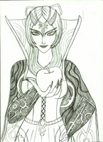 Evil Stepmother Midna Poster Lineart by AnaPaulaDBZ