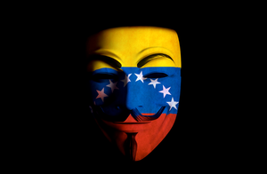 Anonymous Venezuela Mask Front by paundpro