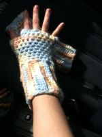 Pastel Colors fingerless gloves2 by LilithsSmile