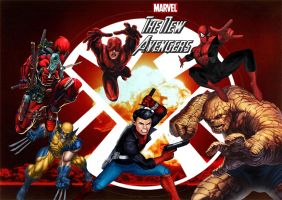 Marvel's The New Avengers by stick-man-11