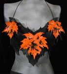 leather bat bra-halter by MidnightZodiac