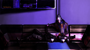 Garrus and Shepard by Alexasunny