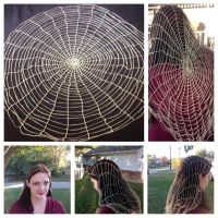 Halloween/Spider Web Veil by LittleMrsAdams