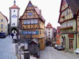 Rothenburg -  picturesque old town by Mittelfranke
