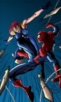 spidey fight by logicfun