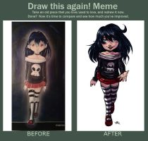 MEME before and after Children's Soul by MarisaArtist