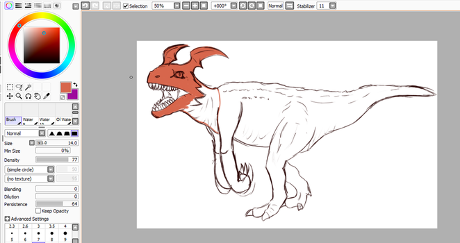 W.I.P Realism Guilmon by SquiggleSharks