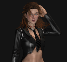 LaraPunkoutfit, wip1 closeup by tombraider4ever