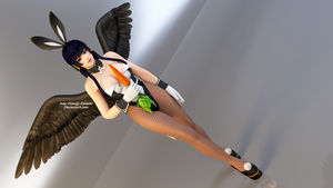 Nyotengu Bunny Outfit Render by Ada-Momiji-Forever