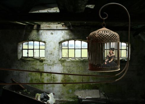 Girl in cage 2 by LadyJetske