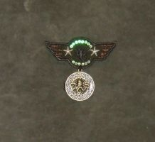Silver  Star Cthulhu Airforce War Medal 5 by Windthin