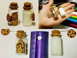 Cookie Jar and Milk Bottle Charms. by Darxen