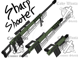 RWBY Fan Weapon (Sharp Shooter) by CrosmirSketch