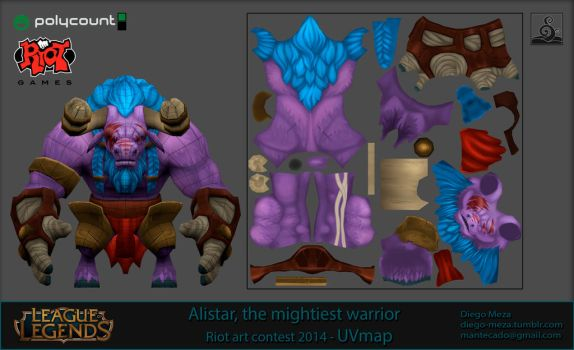 Diego Meza Character Art Alistar UV Space by DiegoHelterSkelter