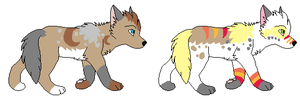2 Pups to ~Lizzara by MichelsAdoptions
