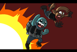 Hokey and Pokey vs Explosions by SHITFORBRAINSCHAN