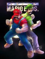 super mario bros by artnerdx