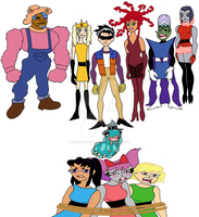 Those Villainous Teen Titans win again colored by ColdHeartedCupid