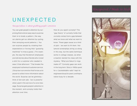 Made To Stick Book Design - Unexpected by CRUX56