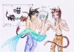A Cat a fish and a cat by UnknownSoulCollector