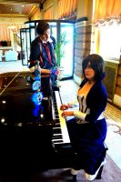 Booker and Elizabeth: Piano by miyumiyuchancosplay