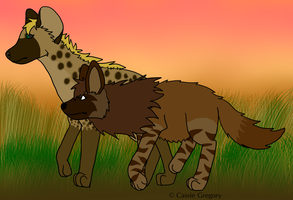 Cas and Mwenda on patrol by The-Smile-Giver