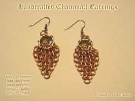 Chainmail Earrings by robertllynch