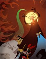 The Powerpuff Girls/Samurai Jack VS Aku by UltimaDX